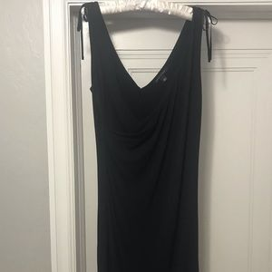 Banana Republic crepe black dress